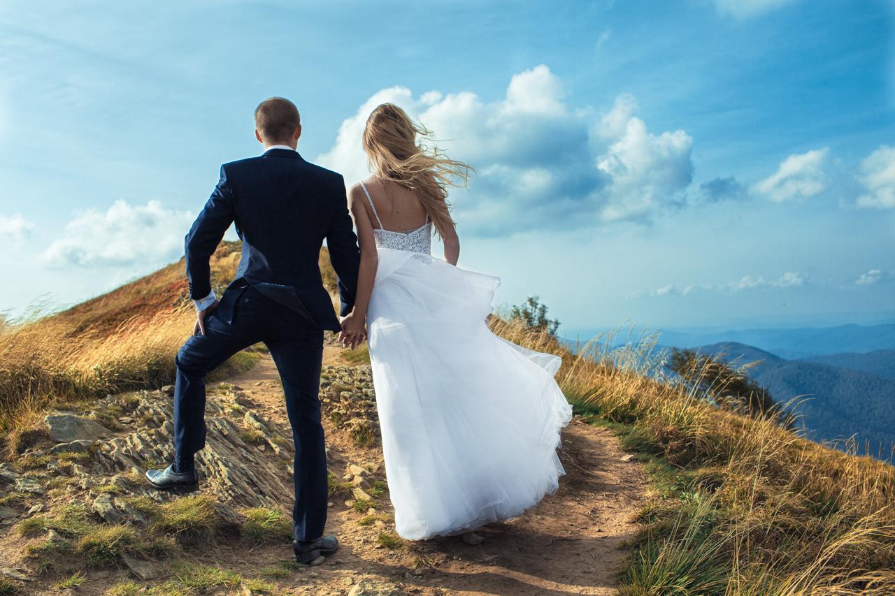 podziwiamy piękno Bieszczad w czasie pleneru ślubnego
