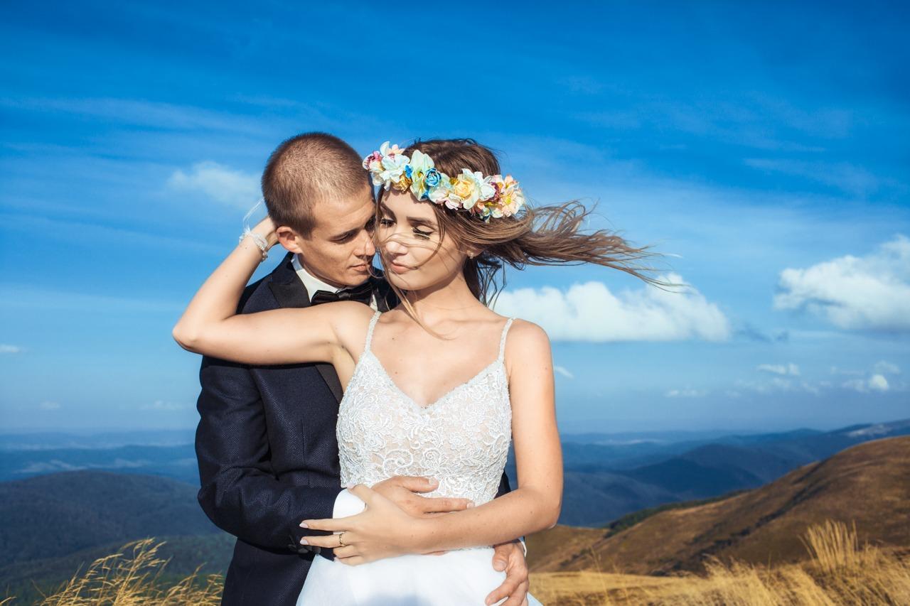 plener ślubny na Połoninie Caryńskiej