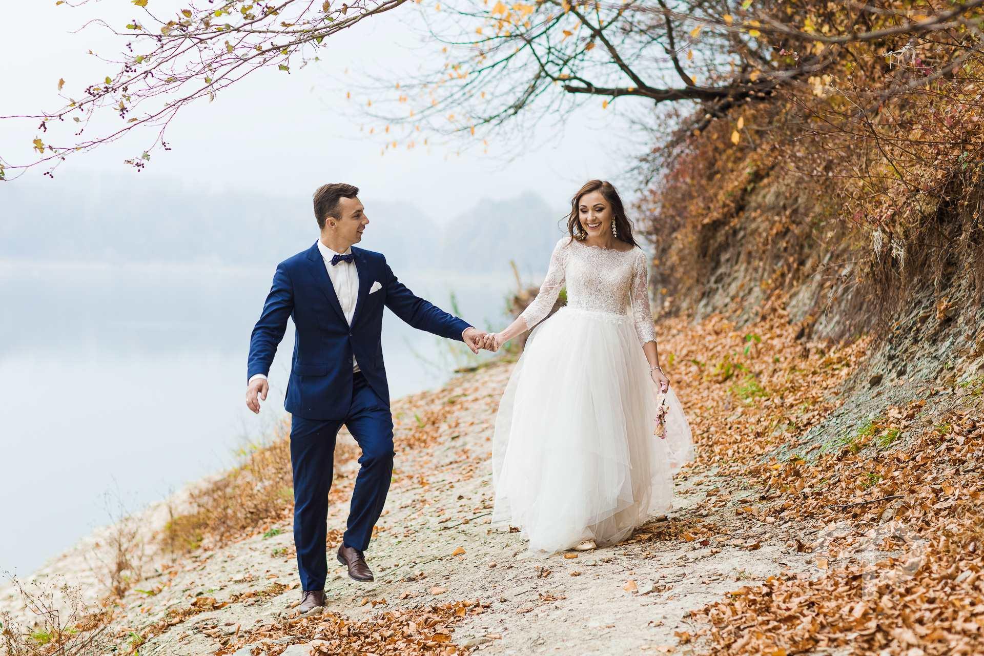 Plener ślubny nad zalewem Sieniawa