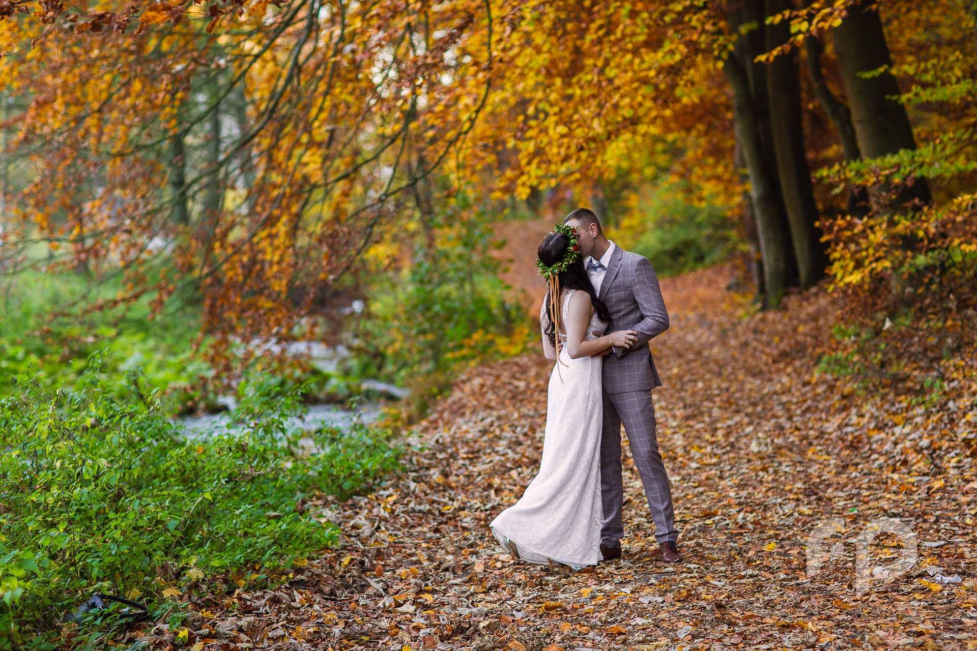 Jesienna sesja ślubna w Krakowie