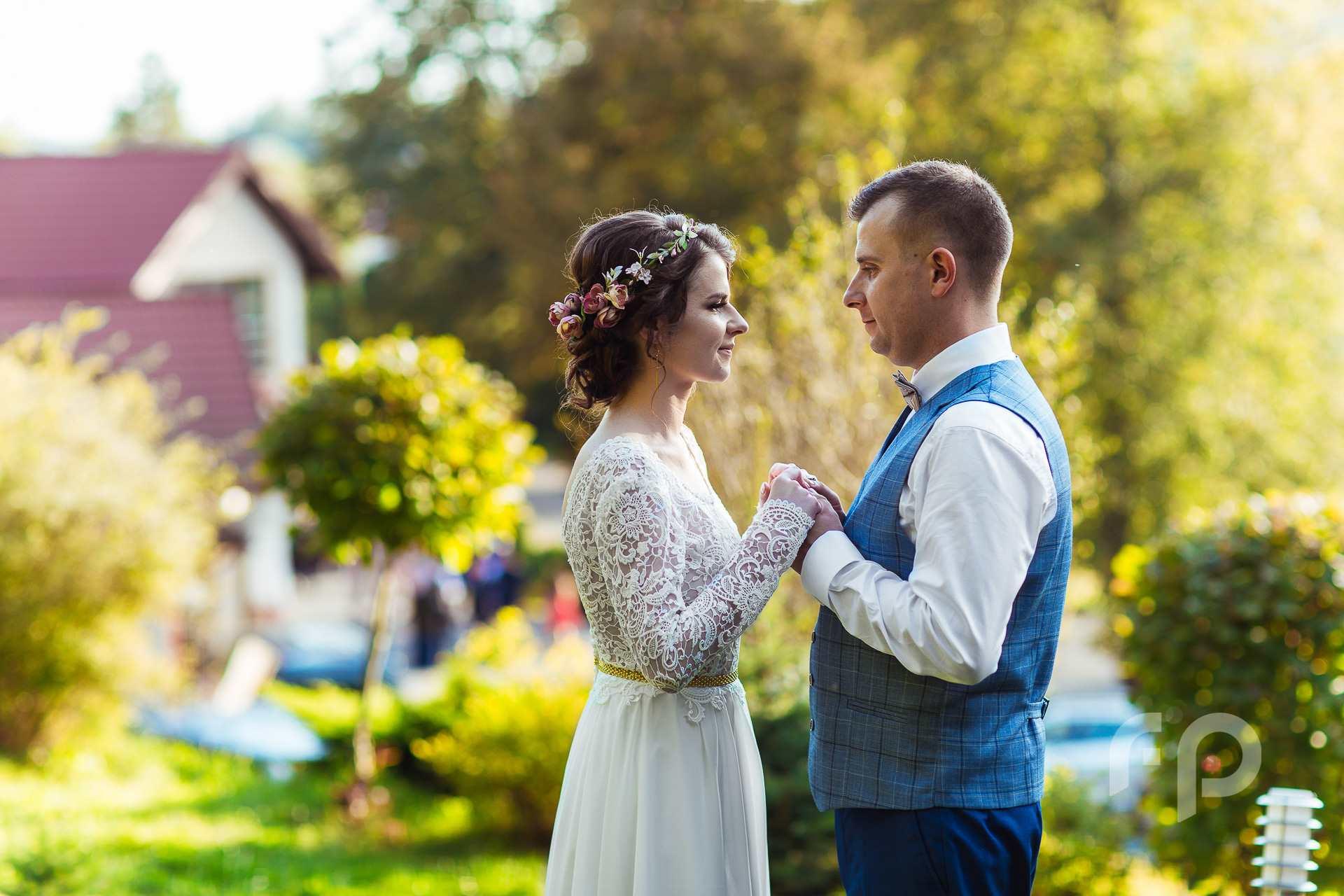 Mini plener ślubny w czasie wesela