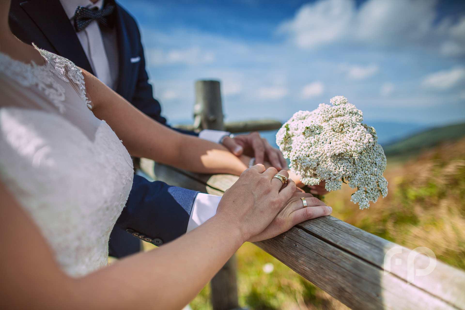 plenerowy bukiet ślubny