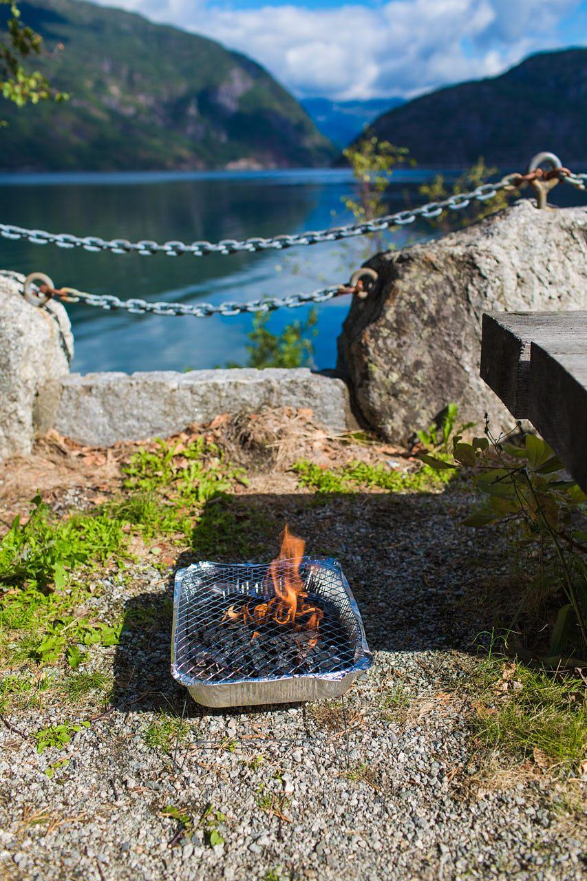 grillowanie z widokiem na fiord