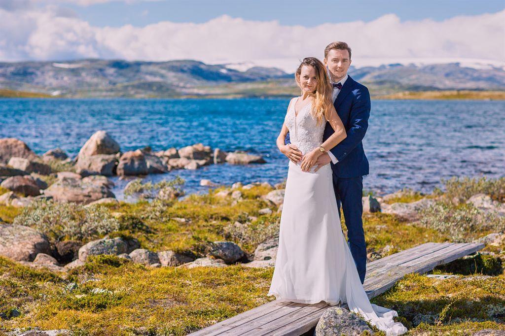 lodowce Norwegii - plener ślubny za granicą