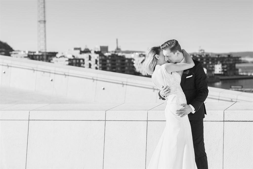 nowoczesna sesja ślubna