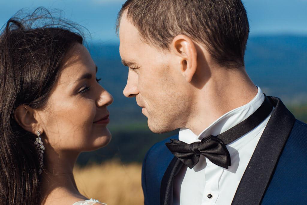 ujęcia do teledysku ślubnego w Bieszczadach